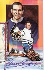 Harry Lumley Autographed Hockey Legends Card HOFer