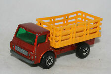 Matchbox Superfast #71 Dodge Cattle Truck, Dark Orange, Nice