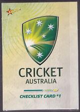 2007 Select Cricket Australia complete 120 card base set PLUS 4 card PROMO set