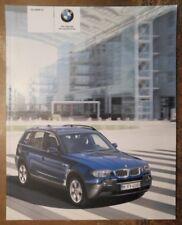BMW X3 Orig 2005 Reino Unido MKT prestigio folleto de ventas - 2.0d 2.5i 3.0i