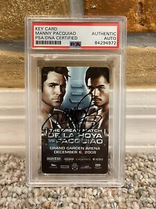 MANNY PACQUIAO SIGNED AUTO HOTEL KEY CARD MGM GRAND Oscar de La Hoya PSA PROOF