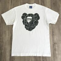 A BATHING APE BAPE Kaws Collabo Big Head TEE Size L Super Rare