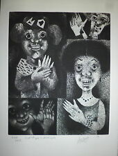 Mario Avati gravure originale 1958 signée numérotée Art Abstrait