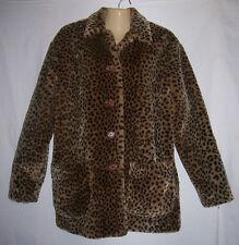 Womens KAREN KANE LIFESTYLE Coat Vintage Style Size M Animal Print Leopard