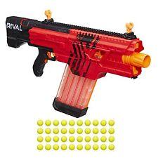 Nerf Blaster Gun 40 Round Magazine Rapid Fire Motorized Blasting Dart Gun Red