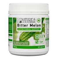 NATURE'S GOODNESS BITTER MELON 365 CAPSULES 500MG NUTRITIONAL SUPPORT