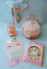 Justice Girls Perfect As A Peach Beauty 5 Piece Gift Set Lot Brand New