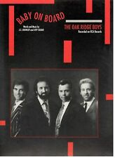 "THE OAK RIDGE BOYS ""BABY ON BOARD"" SHEET MUSIC-1991-RARE-BRAND NEW ON SALE-MINT!"