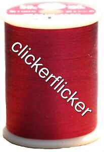 Kanagawa 100% and #50 Silk Thread [ 001 - Cranberry ]