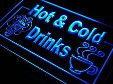 j983-b Hot & Cold Drinks Cafe Neon Light Sign