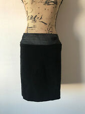 83afc3b2d4 BEHNAZ SARAFPOUR FOR TARGET BLACK VELVET SATIN WAIST PENCIL SKIRT SIZE 5