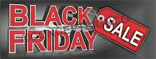 4'x10' BLACK FRIDAY SALE BANNER Outdoor Sign XL Retail Sales Thanksgiving Save