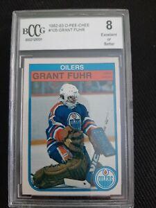 1982-83 O-PEE-CHEE OPC Grant Fuhr BCCG 8 #105