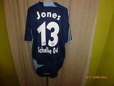 "FC Schalke 04 Adidas Auswärts Trikot 2007/08 ""GAZPROM"" + Nr.13 Jones Gr.XL TOP"