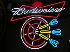 "New  Budweiser Bow Tie Darts Beer Bar Light Lamp Neon Sign 24""x20"""