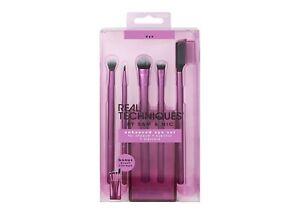 REAL TECHNIQUES Enhanced Eye Set Brush Cup RT-91534 shadow eyeliner mascara 6pcs
