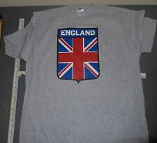 VINTAGE IRON-ON NEW T-SHIRT XL X-LARGE ENGLAND FLAG