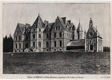 1909  --  CHATEAU DE KERFILY EN ELVEN  A M LE BARON DE CHARETTE   3L400