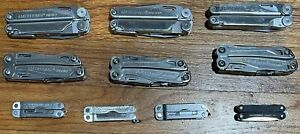 Lot of 10 Leatherman Wave / Sidekick / WIngman / Micra / Wave + - Multi Tool