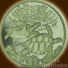 2017 Green Turtle - TITANIUM Coin in BOX + COA - British Indian Ocean Territory