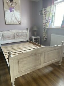 Chabby Chic Double Bed Frame Solid Wood