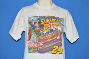 JEFF GORDON ADVENTURES OF SUPERMAN RACING NASCAR T-SHIRT YOUTH LARGE YL