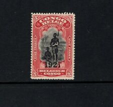 Belgian Congo 1921 5fr Bangala Chief and Wife overprinted 1921 SC 72 MLH