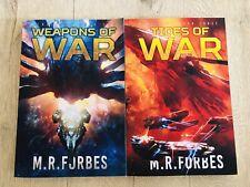 Volume 2 & 3 Rebellion Tides Of War Weapons Of War Sci-Fi Novel M R Forbes Set
