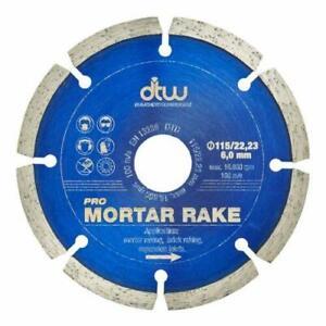 "DTW 115mm (4.5"") Mortar Raking Diamond Blade Disc"