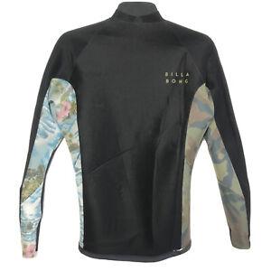 Billabong 2/2 Revolution Tri Bong Reversible Wetsuit Jacket Camo Floral NWOT's
