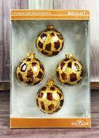 Kurt S. Adler Santa's World 4 Giraffe Glass Christmas Ornaments *FREE SHIPPING*