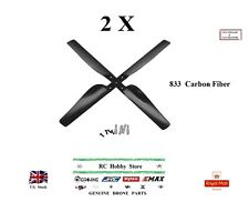 833 Carbon Fiber Propellers 2 Pairs (2xCW + 2xCCW) RC Model Spare Parts UK