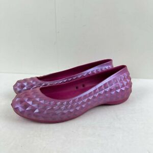 Crocs Women's Berry Super Molded Iridescent Flat US 9 Loafer Rubber shoes