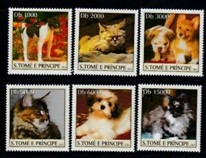 SÃO TOME & PRINCIPE Cats & Dogs MNH set