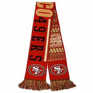 """NFL San Francisco 49ers 2015 Ugly Sweater Reversible Scarf 64"""" by 7"""" by FOCO"""