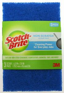 Scotch Brite Non Scratch Scour Pads ~ 3 Pack