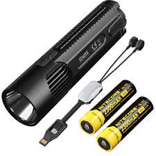 Nitecore EC4GTS 1800Lm Flashlight w/2x NL183 Batteries & Portable USB charger
