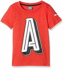 PUMA Kinder T-Shirt AFC Big A Crest Tee, High Risk Red-Heather, 152