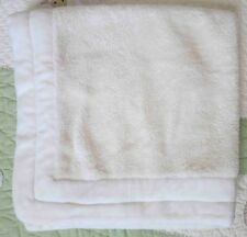 Baby Gap Cream Sherpa & Fleece w Velour Edging Baby Boy or Girl Blanket EUC