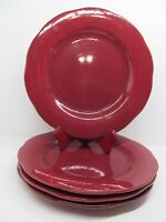 """Franciscan China Apple Pie Red Delicious 11 1/4"""" Dinner Plates Bundle of 4"""
