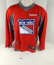 New York Rangers Game Issued Red Practice Shield Jersey 54 DP03317