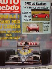 auto hebdo 1989  BMW Z1 / MAZDA MIATA MX 5 / GRAND PRIX CANADA