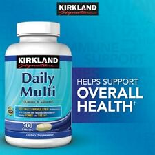 Kirkland Signature Daily Multi,Heart Eye Immune Bone Health , 500 Tablets
