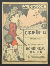 Protège cahier RONDINEAU MARIN Voiture NANTES La Chasse Hunting copybook