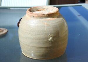 """Korean Choson Dynasty Celadon Alms Bowl H 5"""""""