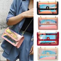 US New Women Transparent Clear Shoulder Bag Tote Purse Wallets Handbag Fashion
