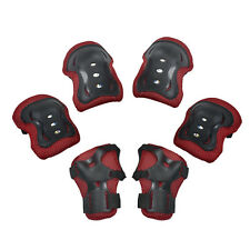 3 Pairs Protector Roller Skating Skateboard Knee Elbow Wrist Guard Bike Sport