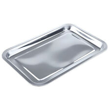 Stainless Steel Tableware Dish Plate Food Organizer Tray Grill Baking Pan
