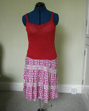 Phase eight size 12 cherry red knitted camisole top