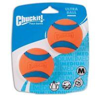 Chuckit! 17001 Fetch Games 2-Medium Balls Pack - Orange/Blue